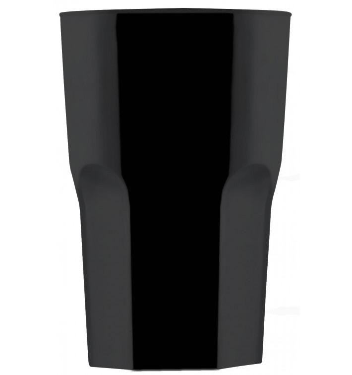 Vaso Reutilizable SAN Granity Negro 400 ml (75 Uds)