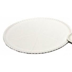 Plato para Pizza de Carton blanco Ø33cm (200 Uds)