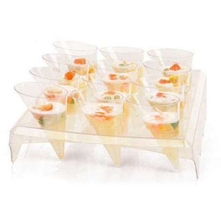 Stand de Plastico Transparente 24x20x5,8cm (1 Ud)