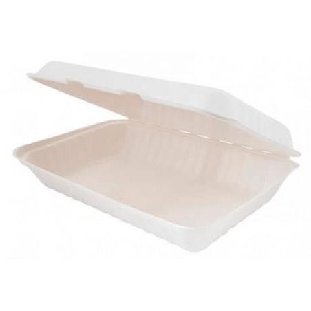 Envase Caña de Azucar Blanco 335x230x75mm (50 Uds)