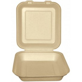 Envase MenuBox Caña Azúcar Natural 20x20x7,5cm (200 Uds)