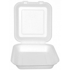 Envase MenuBox Caña Azúcar Blanco 20x20x7,5cm (200 Uds)