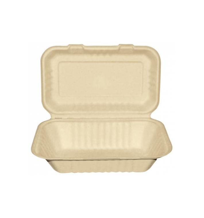 Envase MenuBox Caña Azúcar Natural 225x165x64mm (50 Uds)