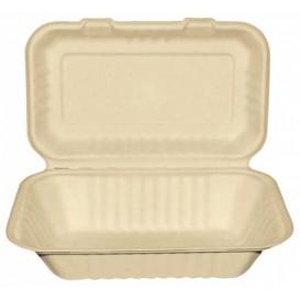 Envase MenuBox Caña Azúcar Natural 225x165x64mm (200 Uds)