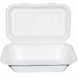 Envase MenuBox Caña Azúcar Blanco 225x165x64mm (50 Uds)