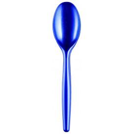 Cuchara de Plastico Easy PS Azul Perlado 185 mm (20 Uds)