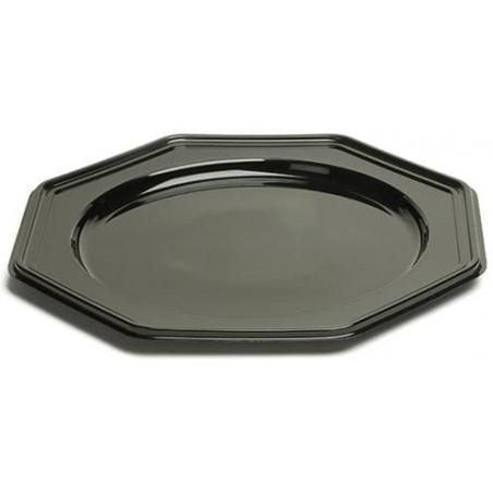 Bajoplato de Plastico PET Octogonal Negro 30 cm (10 Uds)
