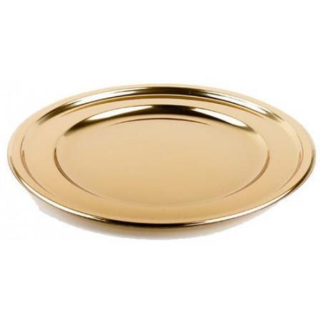 Bajoplato Reutilizable PET Redondo Oro 30 cm (50 Uds)