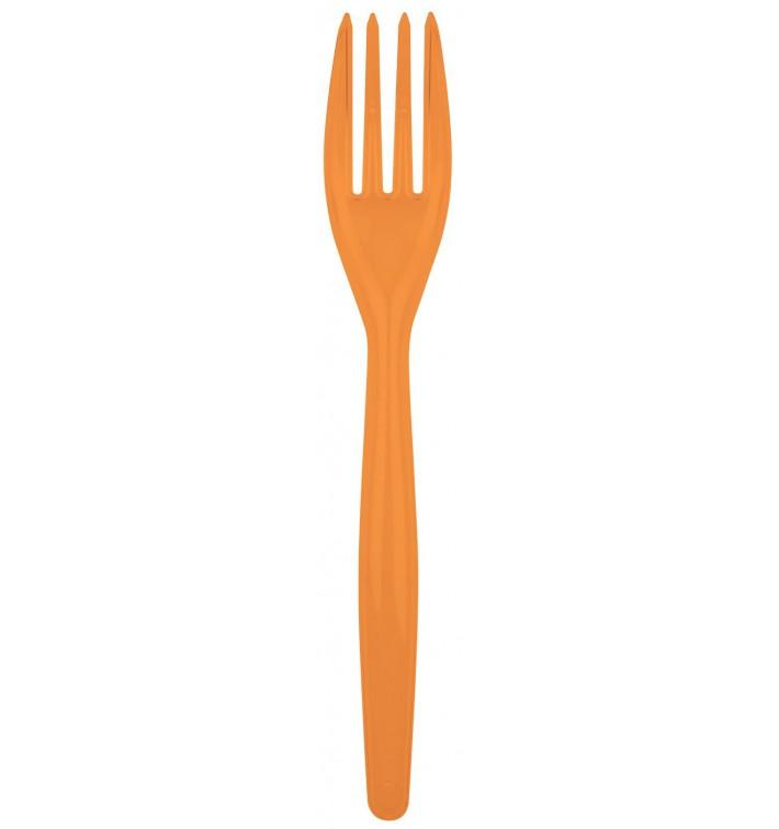 Tenedor de Plastico Easy PS Naranja 180mm (500 Uds)