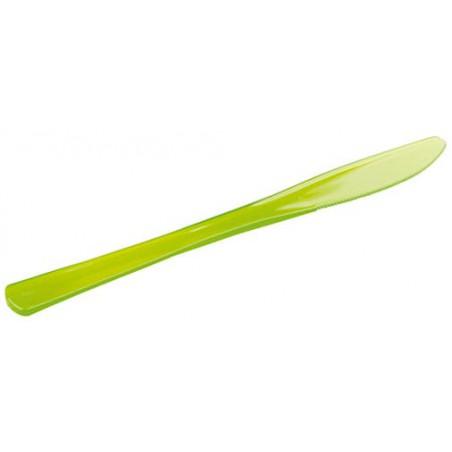 Cuchillo de Plastico Premium Verde 200mm (10 Uds)