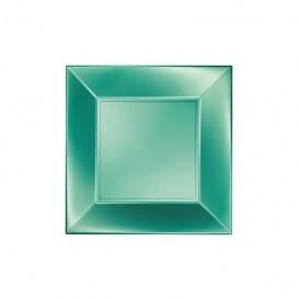 Plato de Plastico Llano Verde Nice Pearl PP 180mm (25 Uds)