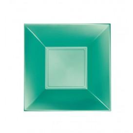 Plato de Plastico Hondo Verde Nice Pearl PP 180mm (300 Uds)