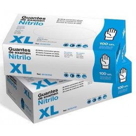 Guantes de Nitrilo Sin Talco Azul Talla XL AQL 1.5 (1000 Uds)