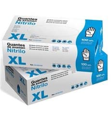 Guantes de Nitrilo Sin Talco Azul Talla XL 3,5g (1000 Uds)