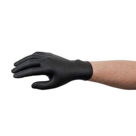Guantes de Nitrilo Sin Talco Negro Talla XL AQL 1.5 (100 Uds)
