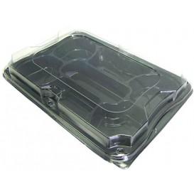 Bandeja Plastico 7C con Tapa 35x24 cm (25 Packs)