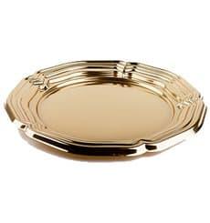 Bandeja Plastico Redonda Oro 34 cm (5 Uds)