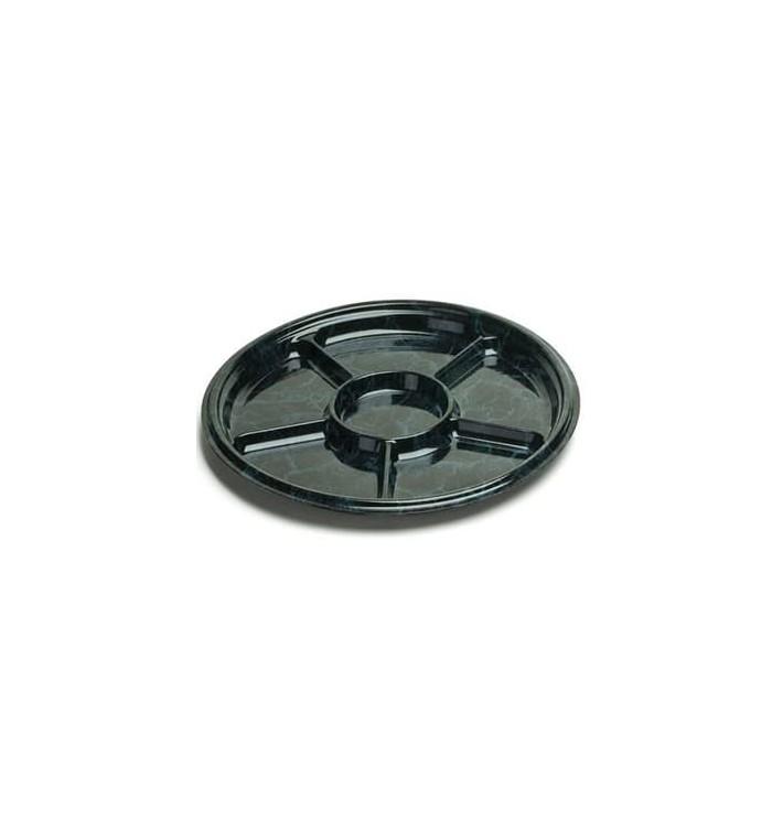 Bandeja Plastico 6C Marmol 40 cm (5 Uds)