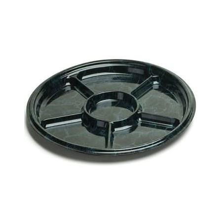 Bandeja Reutilizable PET 6C Marmol 40cm (5 Uds)