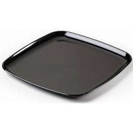 Bandeja Plastico Cuadrada Dura Negro 40x40 cm (25Uds)