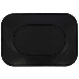 "Bandeja de Plastico PP ""X-Table"" Negro 330x230mm (60 Uds)"