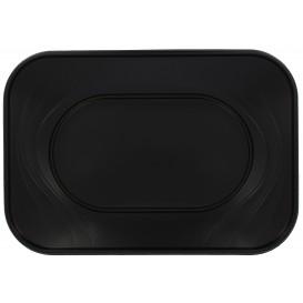 Bandeja de Plastico Negro PP 330x230mm (60 Uds)