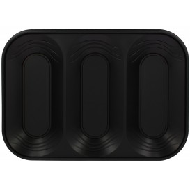 "Bandeja de Plastico PP ""X-Table"" 3C Negro 330x230mm (30 Uds)"