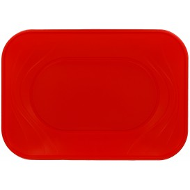 "Bandeja de Plastico ""X-Table"" Rojo PP 330x230mm (60 Uds)"