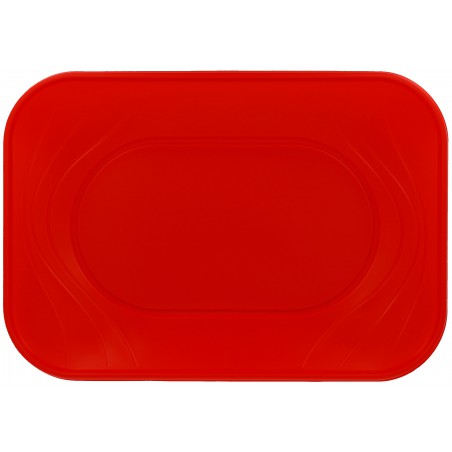 "Bandeja de Plastico PP ""X-Table"" Rojo 330x230mm (60 Uds)"