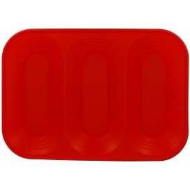 "Bandeja de Plastico PP ""X-Table"" 3C Rojo 330x230mm (30 Uds)"