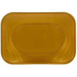 Bandeja de Plastico Oro PP 330x230mm (2 Uds)