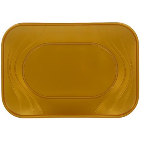 """Bandeja de Plastico PP """"X-Table"""" Oro 330x230mm (60 Uds)"""