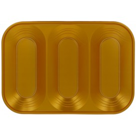 "Bandeja de Plastico PP ""X-Table"" 3C Oro 330x230mm (30 Uds)"