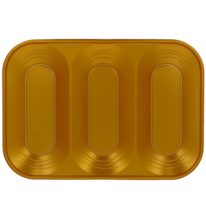 """Bandeja de Plastico PP """"X-Table"""" 3C Oro 330x230mm (30 Uds)"""