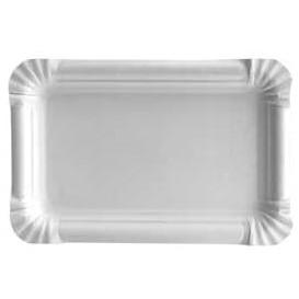 Bandeja de Carton Rectangular Blanca 12x19 cm (100 Uds)