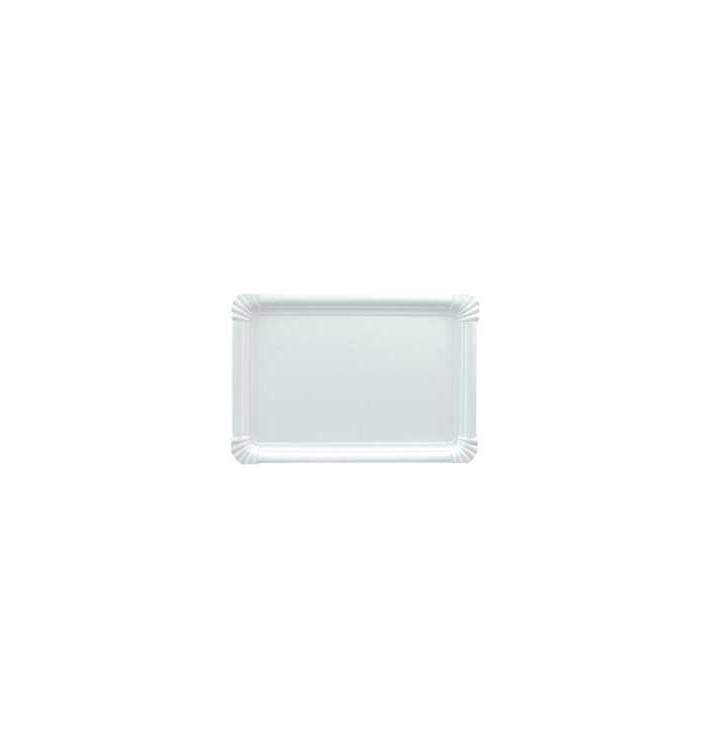 Bandeja de Carton Rectangular Blanca 18x24 cm (800 Uds)
