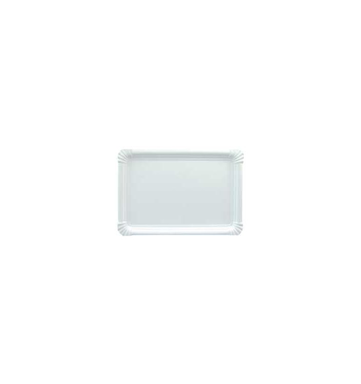 Bandeja de Carton Rectangular Blanca 22x28cm (100 Uds)