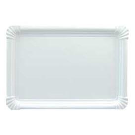 Bandeja de Carton Rectangular Blanca 22x28 cm (300 Uds)