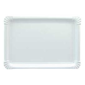 Bandeja de Carton Rectangular Blanca 22x28 cm (600 Uds)