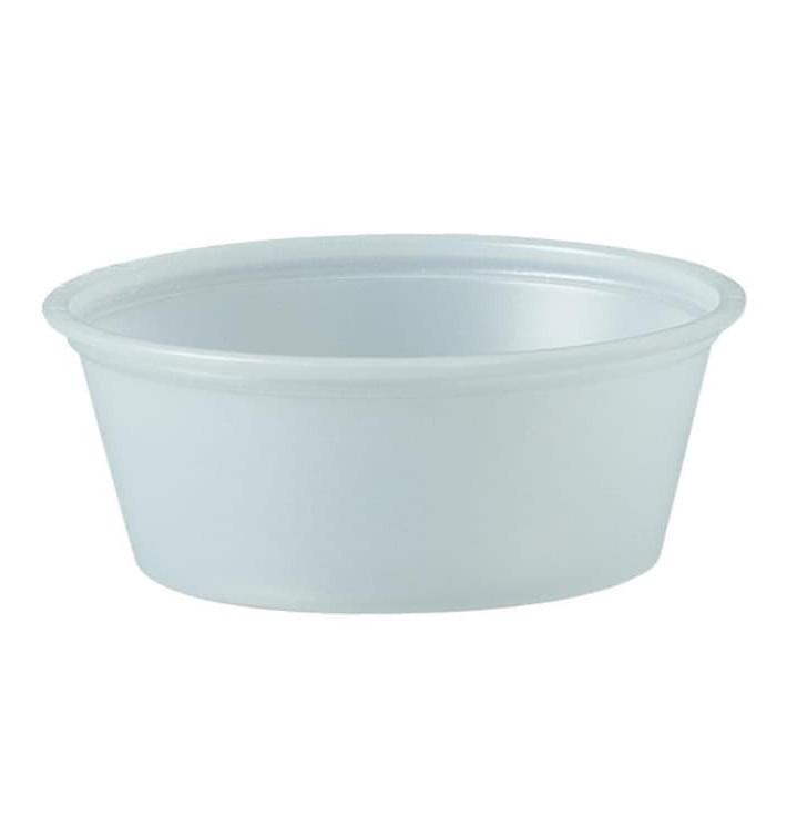 Tarrina de Plastico PS para Salsas 44ml Ø62mm (2500 Uds)