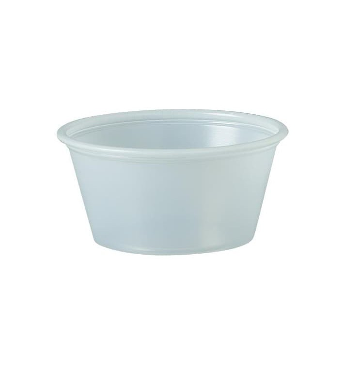 Tarrina de Plastico PS para Salsas 60ml Ø62mm (250 Uds)