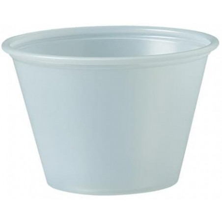 Tarrina de Plastico PS para Salsas 75ml Ø62mm (250 Uds)