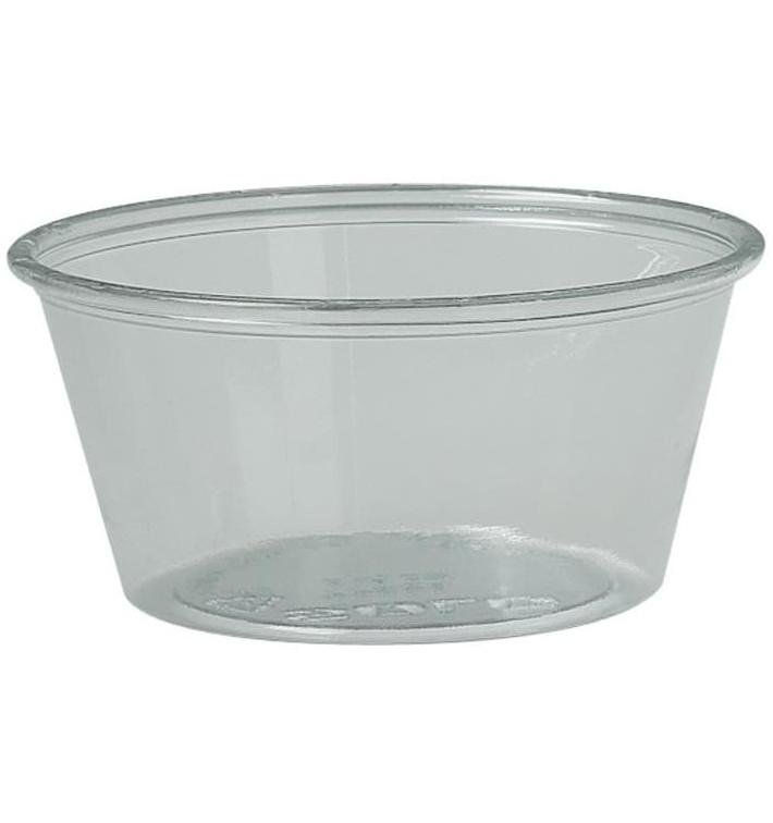 Tarrina de Plastico PET para Salsas 100ml Ø74mm (250 Uds)