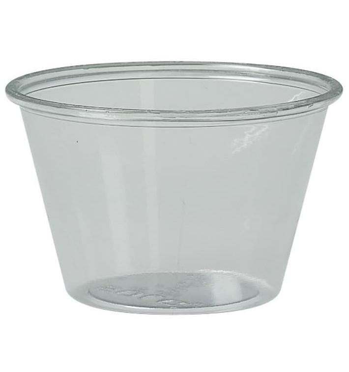 Tarrina de Plastico PET para Salsas 120ml Ø74mm (2500 Uds)