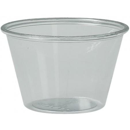 Tarrina para Salsas rPET Cristal 120ml Ø7,3cm (2500 Uds)