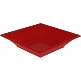 Plato de Plastico Hondo Cuadrado Rojo 170mm (300 Uds)