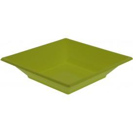 Plato de Plastico Hondo Cuadrado Pistacho 170mm (5 Uds)