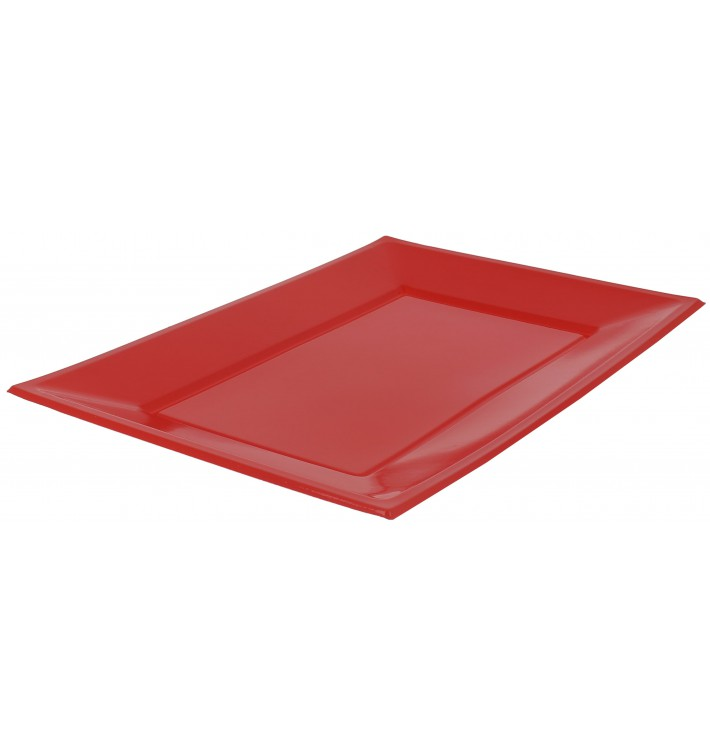 Bandeja de Plastico Roja 330x225mm (3 Uds)