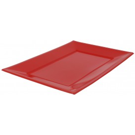 Bandeja de Plastico Roja 330x225mm (25 Uds)