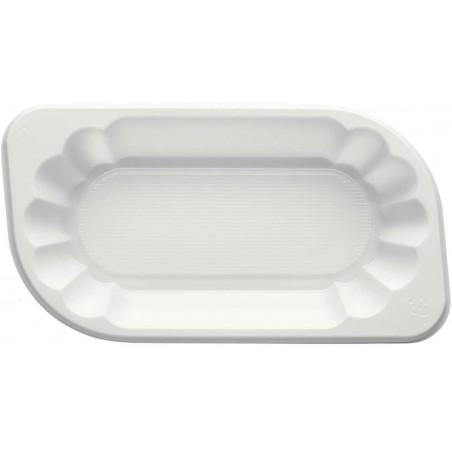 Bandeja de Plastico PS Blanca 175x95x40mm 300ml (1500 Uds)